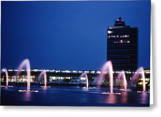 Greeting Card featuring the photograph Idlewild Fountain And Tower by John Schneider