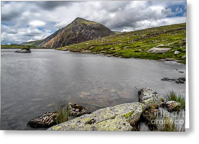 Idwal Lake Rocks Greeting Card by Adrian Evans