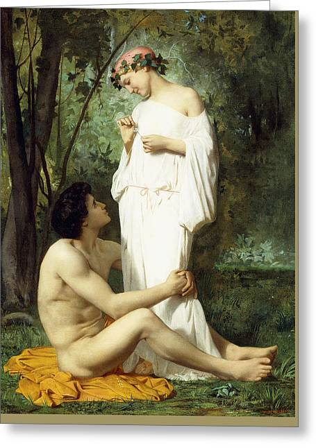 Idyll Greeting Card by William Adolphe Bouguereau