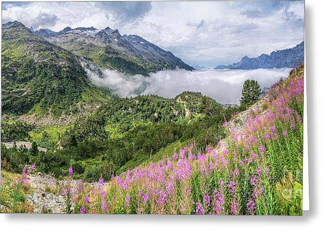 Idyllic Alpine Panorama Greeting Card by JR Photography