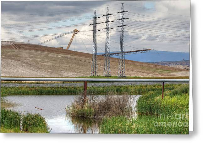 Idyllic Industrial Landscape Greeting Card