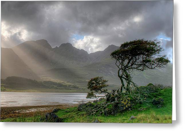 Greeting Card featuring the photograph Nature Landscape Isle Of Sky Scotland by Michalakis Ppalis