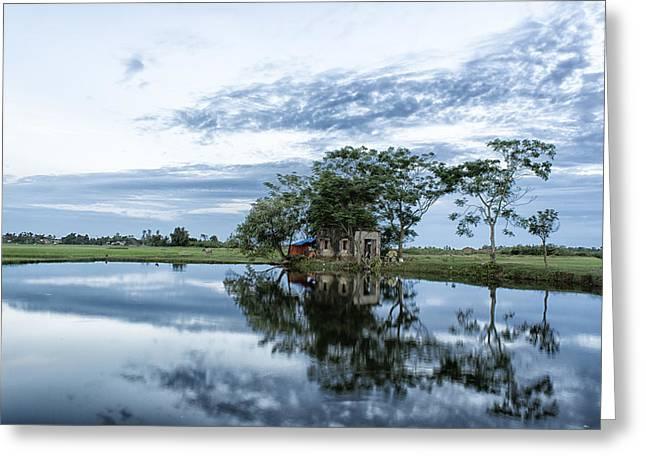 Idyllic Summer House Greeting Card by Minh Nguyen Van