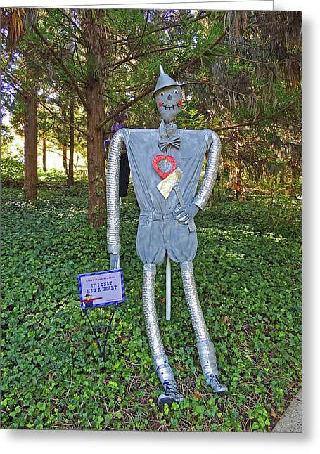 If I Only Had A Heart Scarecrow At Cheekwood Botanical Gardens Greeting Card