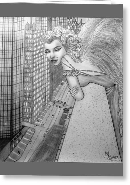 If Marilyn Were An Angel Greeting Card