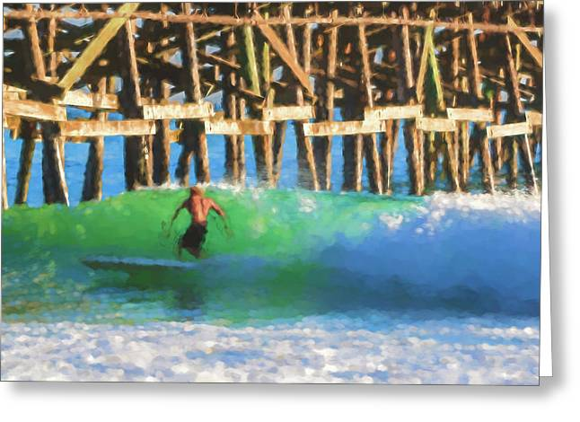 If The Dude Surfed Surfing Watercolor Greeting Card