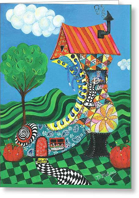 If The Shoe Fits, Live In It Greeting Card by Debbie McCulley