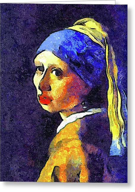 If Van Gogh Had Painted Vermeer Greeting Card by Georgiana Romanovna
