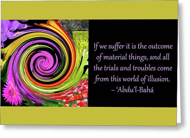 If We Suffer Greeting Card by Baha'i Writings As Art