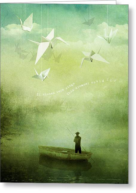 If Wishes Were Wings Greeting Card by Silas Toball