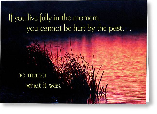 If You Live Fully In The Moment Greeting Card by Mike Flynn
