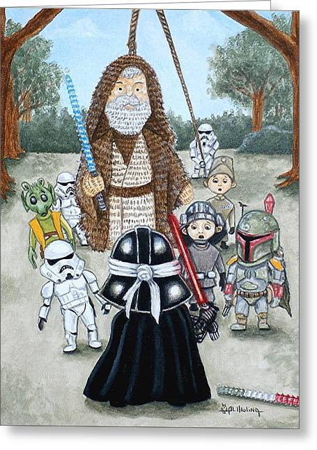 If You Strike Me Down I Shall Reward You With Candy Greeting Card by Al  Molina