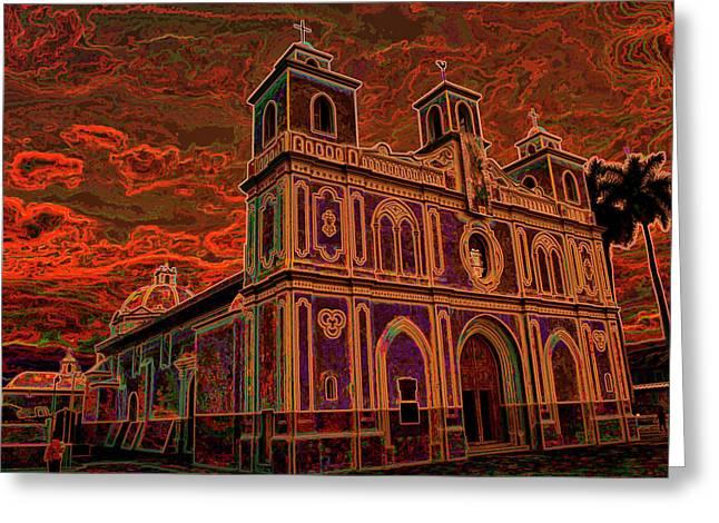 Iglesia De La Asuncion - Ahuachapan Greeting Card