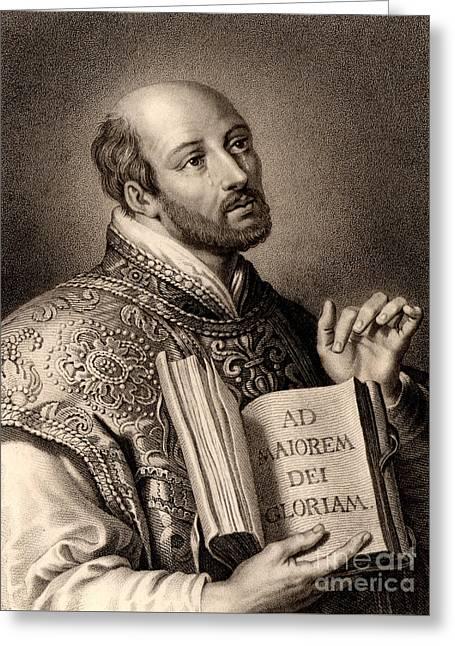 Ignatius Loyola Greeting Card by English School