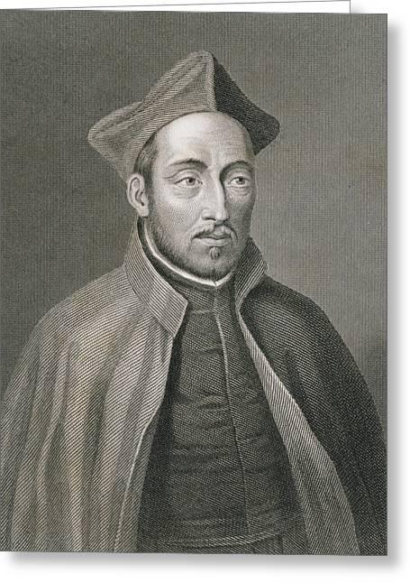Ignatius Of Loyola Greeting Card by W Holl