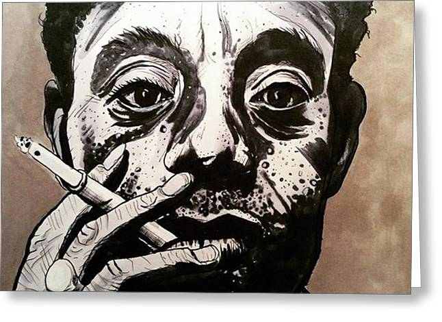 James Baldwin Greeting Card by Russell Boyle