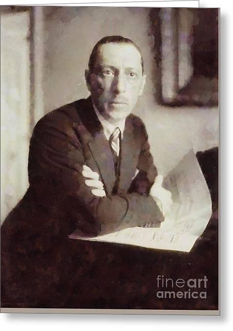 Igor Stravinsky, Composer By Sarah Kirk Greeting Card