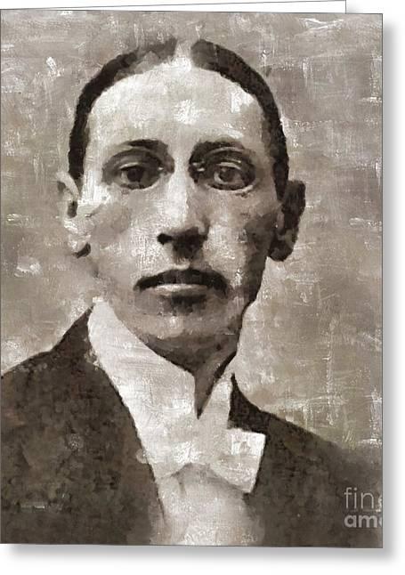 Igor Stravinsky, Composer Greeting Card by Mary Bassett
