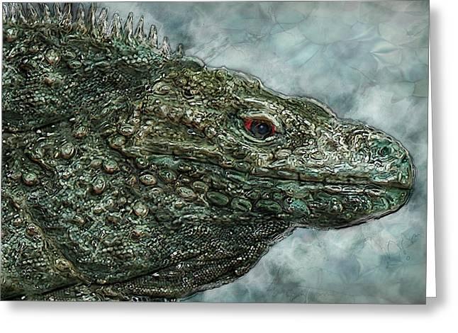 Iguana 2 Greeting Card by Jack Zulli
