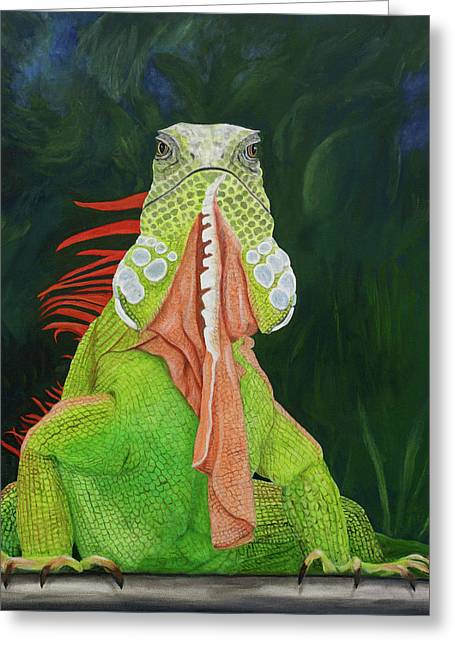 Iguana Dude Greeting Card