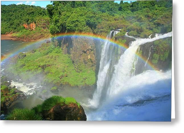 Iguazu Rainbow Greeting Card