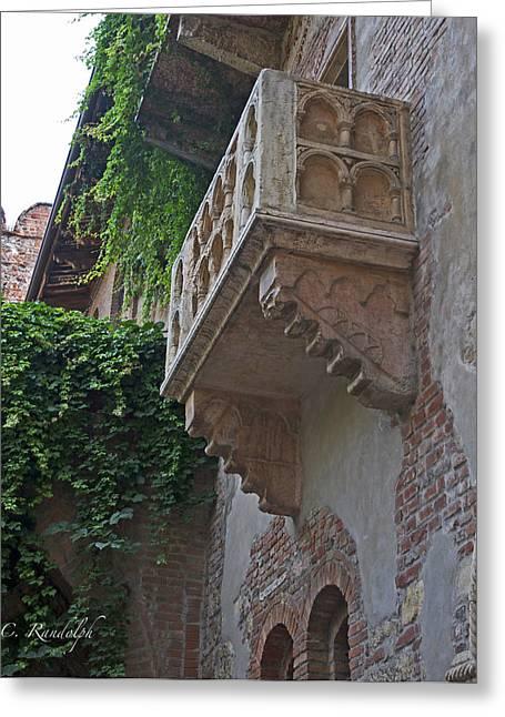 Il Balcone De Giulietta Greeting Card by Cheri Randolph