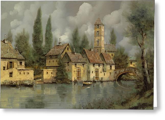 Il Borgo Sul Fiume Greeting Card