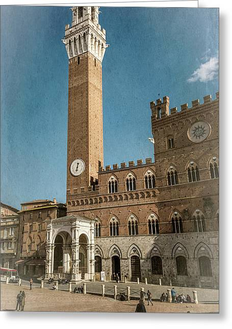 Il Campo Siena Italy Greeting Card by Joan Carroll