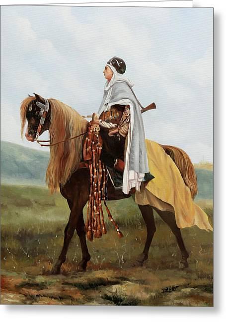 Il Cavaliere Giallo Greeting Card