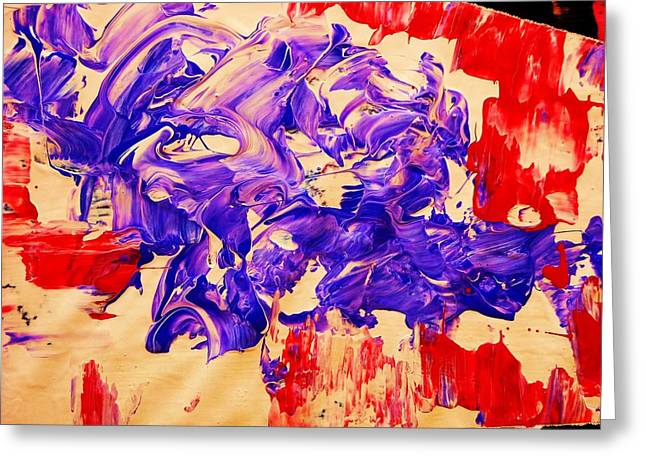 Il Diavolo-detail Greeting Card by Adolfo hector Penas alvarado