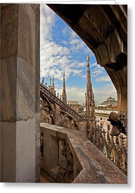 il Duomo di Milano 1 Greeting Card by Art Ferrier