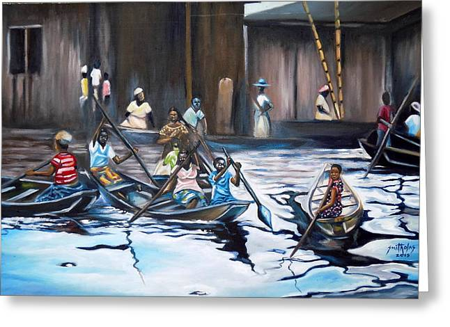 Ilaje Obalende Makoko Greeting Card