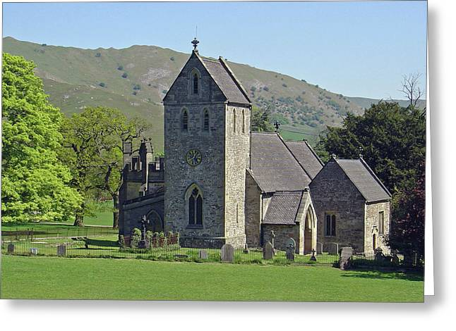 Churchyard Greeting Cards - Ilam Church Greeting Card by Rod Johnson