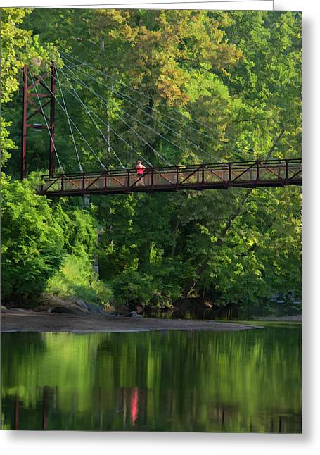 Ilchester-patterson Swinging Bridge Greeting Card