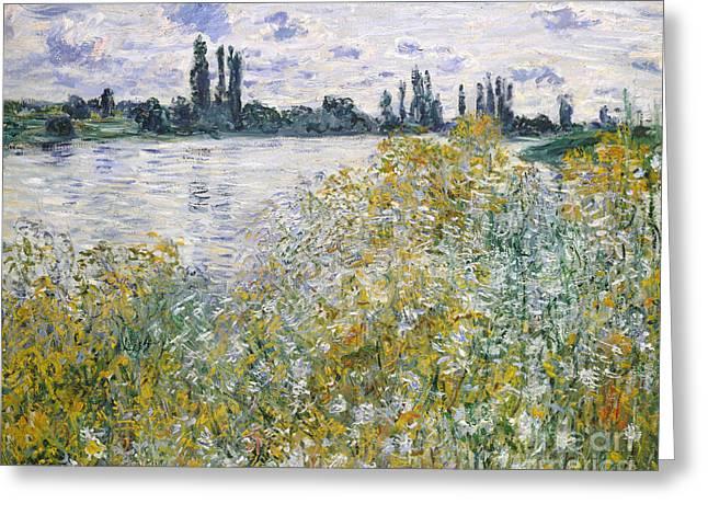 Ile Aux Fleurs Near Vetheuil, 1880 Greeting Card by Claude Monet
