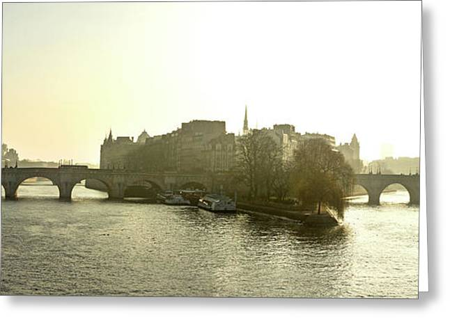 Ile De La Cite In Paris. France Greeting Card by Bernard Jaubert