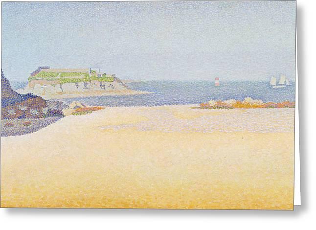 Ile La Comtesse, Pontrieux Greeting Card by Paul Signac