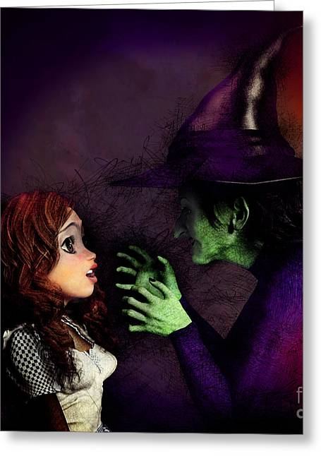 I'll Get You My Pretty Greeting Card by Methune Hively