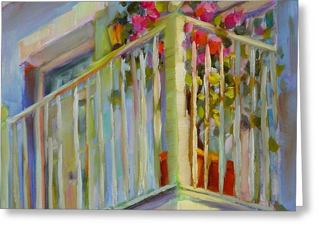 I'll Leave The Porch Light On Greeting Card by Chris Brandley