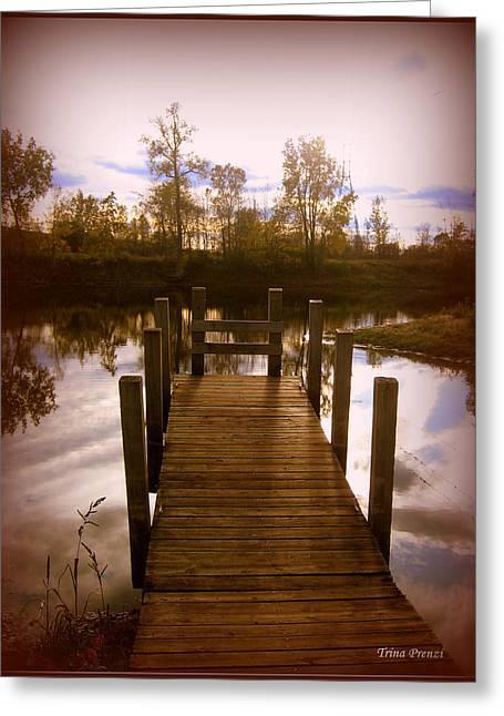 I'll Meet You At The Dock Greeting Card by Trina Prenzi