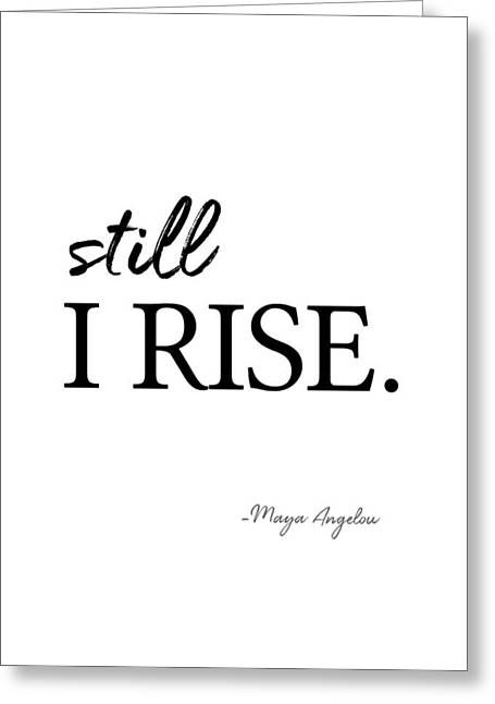 I'll Rise #minimalism 3 Greeting Card