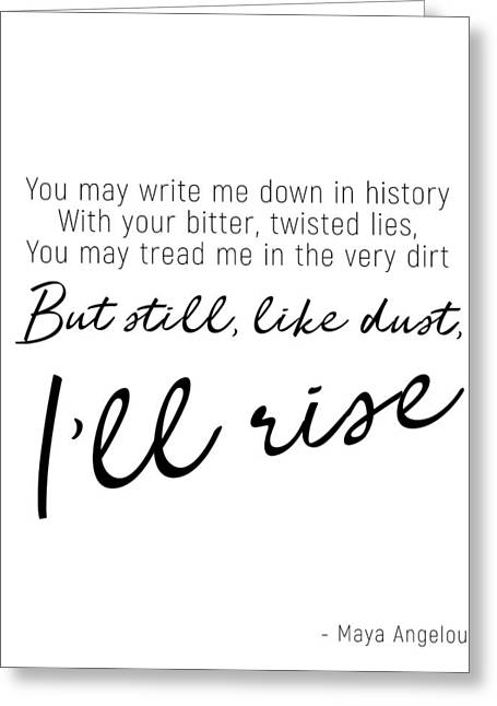 I'll Rise #minimalism Greeting Card