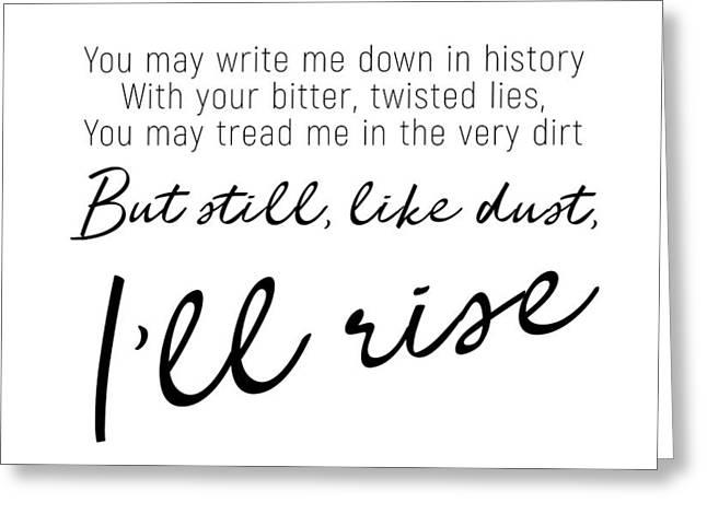I'll Rise #minimalism Greeting Card
