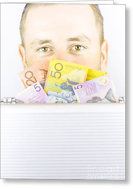 Illegal Money Laundering Greeting Card