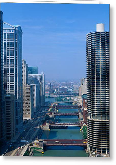 Illinois River, Chicago, Illinois Greeting Card by Panoramic Images