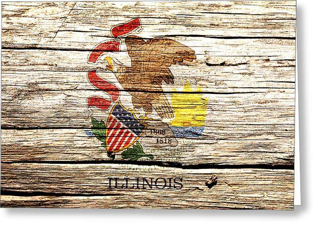 Illinois State Flag 4w  Greeting Card by Brian Reaves