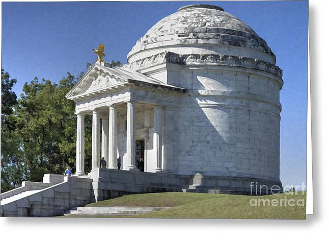 Illinois State Memorial Greeting Card by Liane Wright