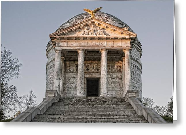 Illinois Memorial - Vicksburg Greeting Card by Stephen Stookey