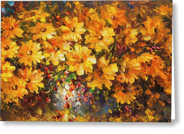 Illousion Of Love  Greeting Card by Leonid Afremov
