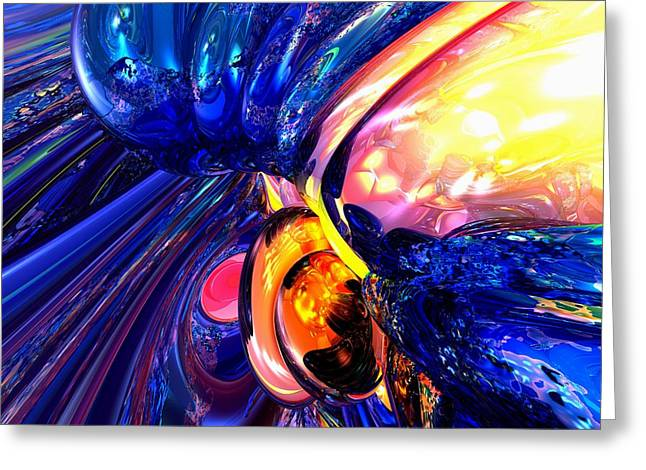 Illuminate Abstract  Greeting Card by Alexander Butler